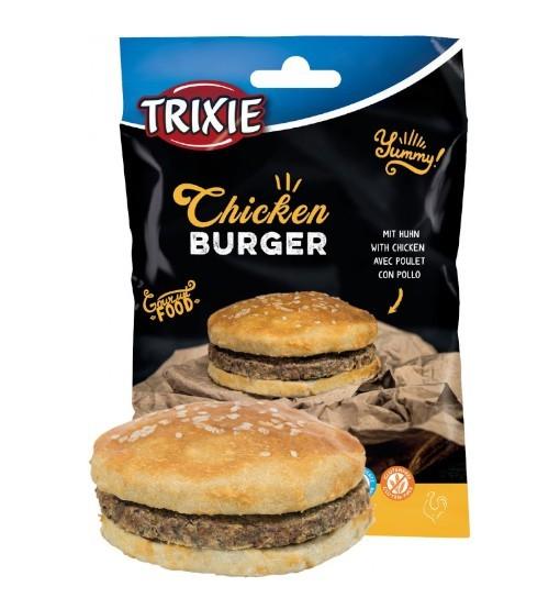Trixie Chicken Burger 140g - przysmak z kurczaka i naturalnej skóry
