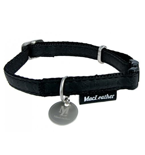 Zolux Obroża regulowana Mac Leather - czarna