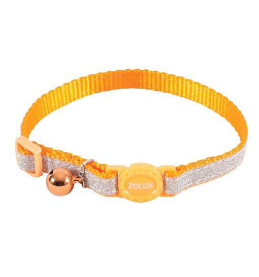 Zolux Obroża nylonowa dla kota SHINY /pomarańczowy