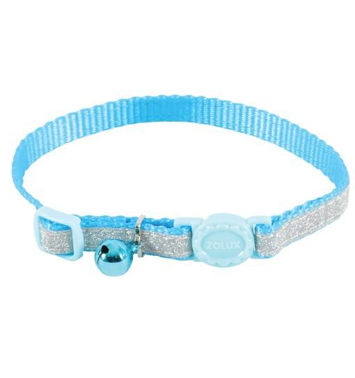 Zolux Obroża nylonowa dla kota SHINY /niebieski