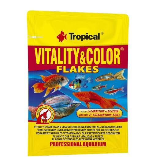 Tropical Vitality & color płatki - pokarm wybarwiający dla ryb