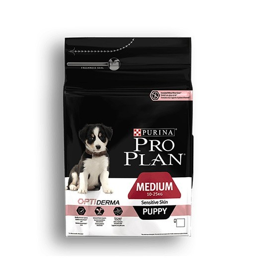 Purina Pro Plan Optiderma Medium Puppy Sensitive Skin Łosoś