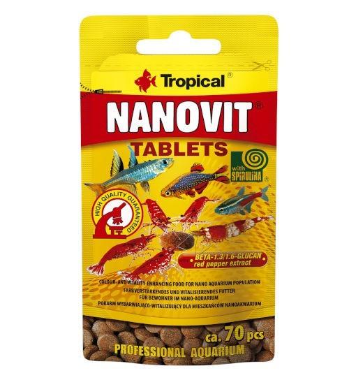 Tropical Nanovit tablets - pokarm wybarwiający w postaci tabletek