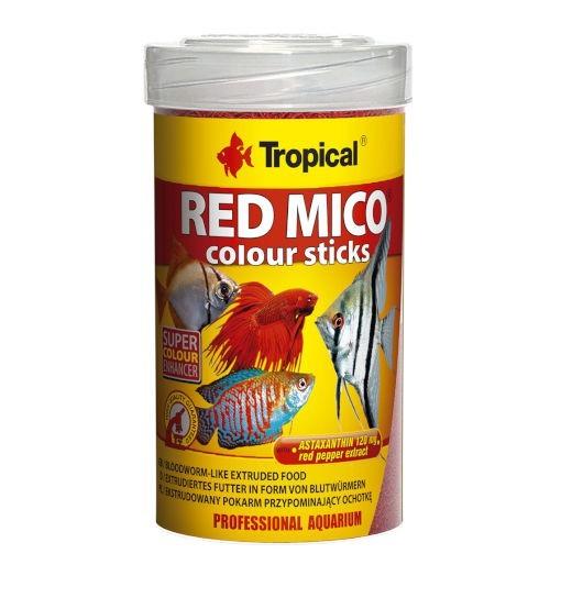 Tropical Red mico colour sticks - wysokobiałkowy, superwybarwiający pokarm dla ryb