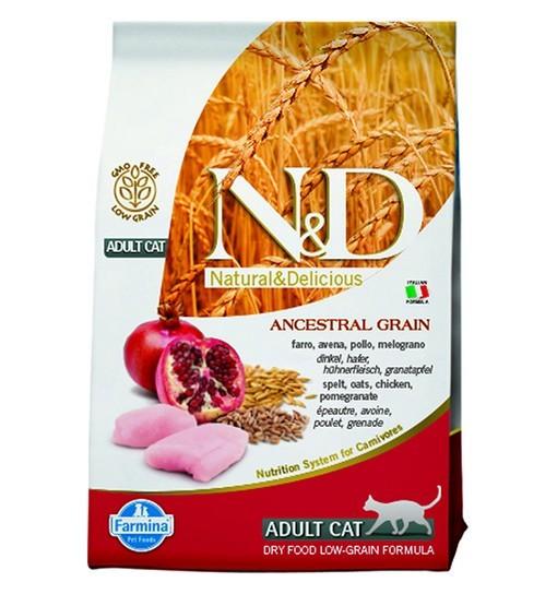 N&D Low Grain Chicken&Pomegranate Adult Cat