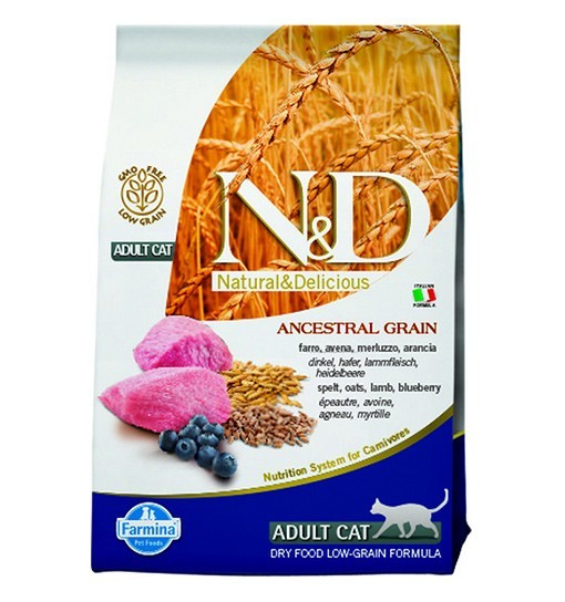 N&D Ancestral Grain Lamb & Blueberry Adult Cat