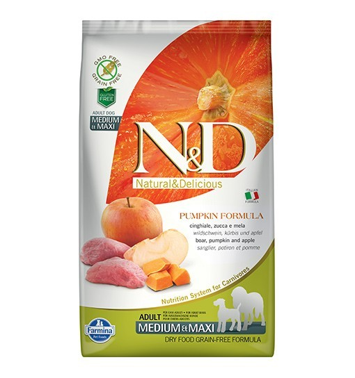 N&D GF Pumpkin Boar&Apple Adult Medium/Maxi