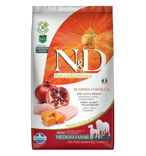 N&D GF Pumpkin Chicken&Pomegranate Adult Medium/Maxi