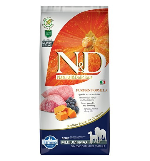 N&D GF Pumpkin Lamb&Blueberry Adult Medium/Maxi