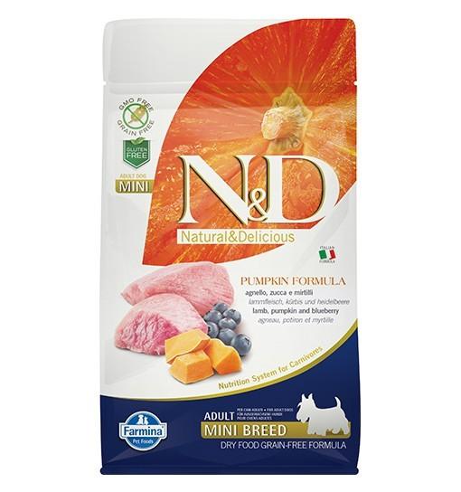 N&D GF Pumpkin Lamb&Blueberry Adult Mini