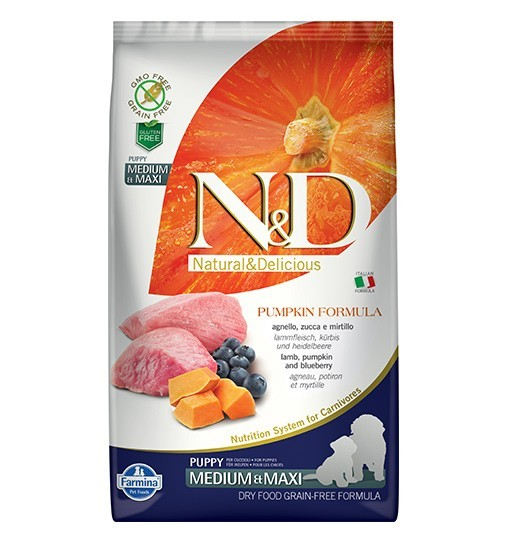 N&D GF Pumpkin Lamb&Blueberry Puppy Medium/Maxi