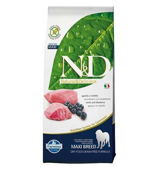 N&D Lamb&Blueberry Adult Maxi Dog 12kg
