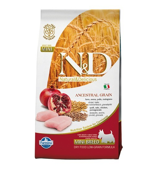 N&D Ancestral Grain Chicken&Pomegranate Adult Mini Dog