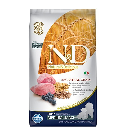 N&D Low Grain Lamb&Blueberry Puppy Medium&Maxi