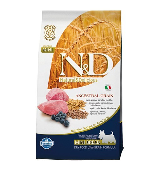 N&D Ancestral Grain Lamb, Spelt, Oats&Blueberry Adult Mini Dog