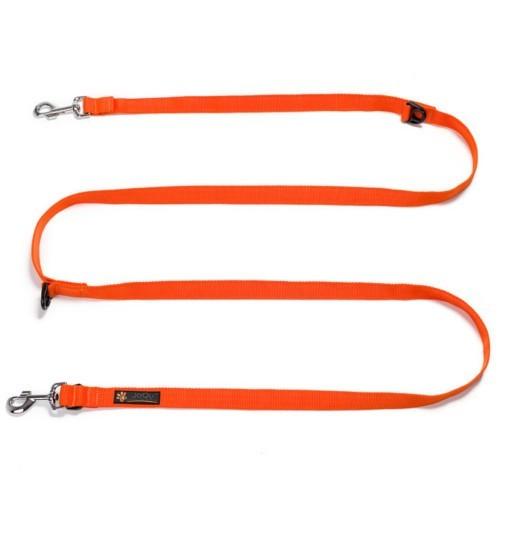 JoQu Long Leash Orange - pomarańczowa smycz przepinana