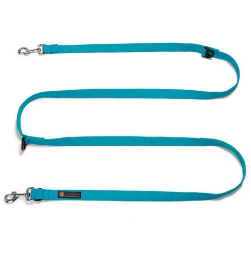 Long Leash Turquoise - turkusowa smycz spacerowa