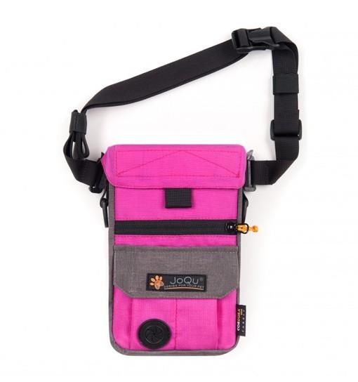 JoQu Dog Snack Bag - różowo-szara torebka na przysmaki