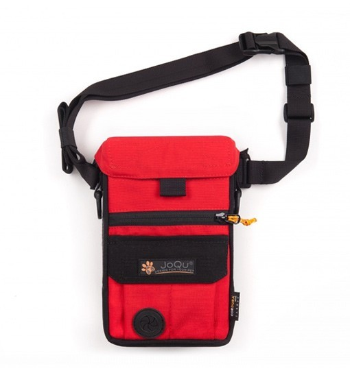JoQu Dog Snack Bag - czerwono-czarna torebka na przysmaki