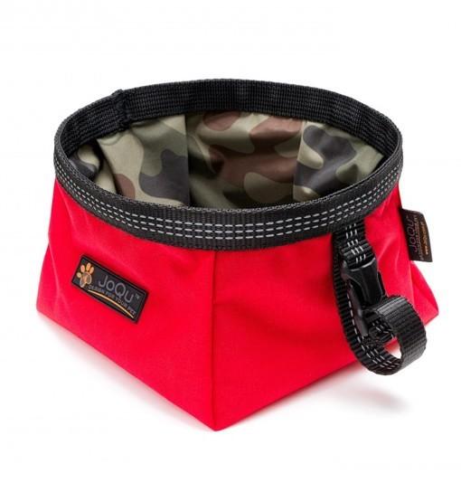 JoQu Walk Bowl Red - Miska turystyczna dla psa