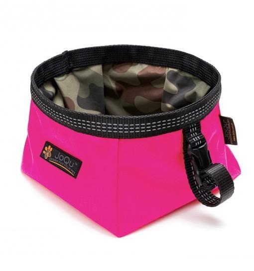 JoQu Walk Bowl Pink - Miska turystyczna dla psa