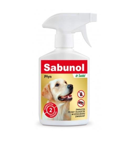 SABUNOL - płyn do zwalczania pcheł w otoczeniu zwierząt 300 ml