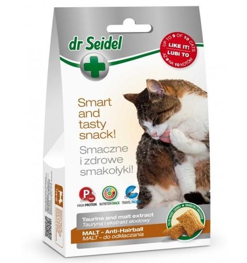 Smakołyki Dr Seidla dla kotów Malt do odkłaczania 50g