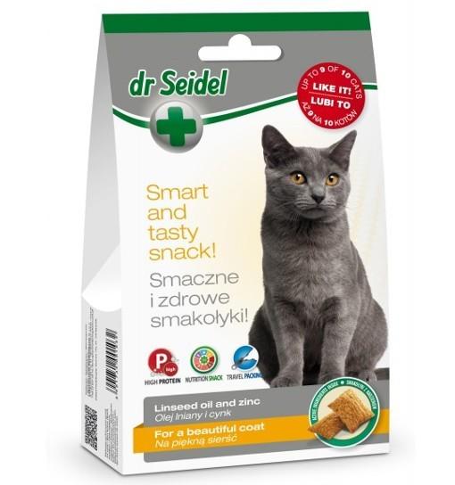 Smakołyki Dr Seidla na piękną sierść dla kotów 50g