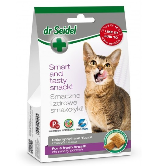 Smakołyki Dr Seidla na świeży oddech dla kotów 50 g