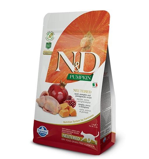 N&D Cat Pumpkin Neutered Quail & Pomegranate