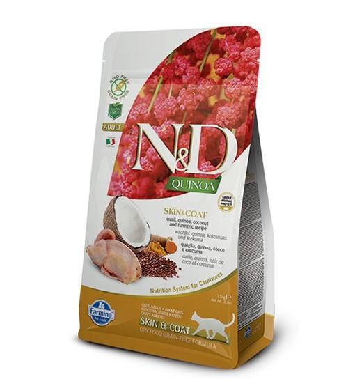 N&D Cat Quinoa Skin & Coat Quail