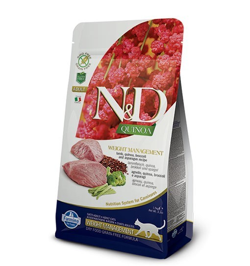 N&D Cat Quinoa Weight Management Lamb & Broccoli