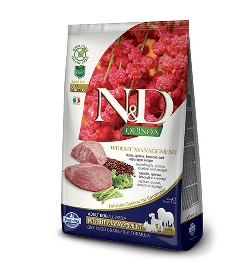 N&D Dog Quinoa Weight Management Lamb & Broccoli