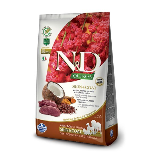 N&D Dog Quinoa Skin & Coat Venison