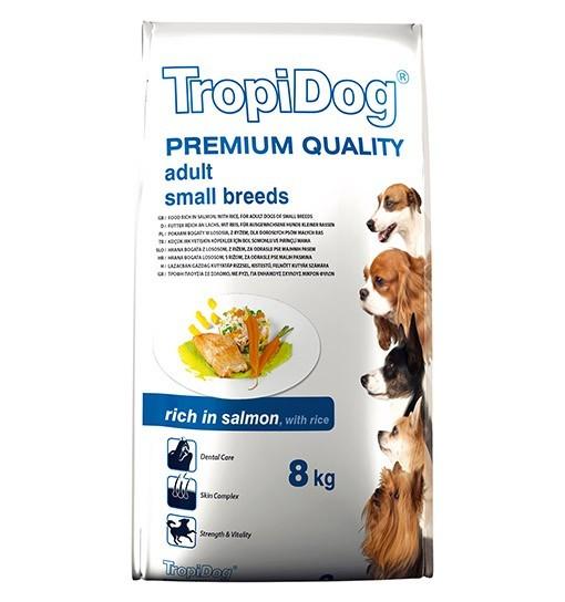Tropidog Premium Adult Small Breeds With Salmon&Rice - Mała Rasa, Łosoś i Ryż