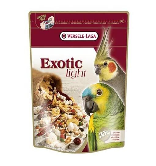 Exotic Light 750 g - mieszanka z prażonymi ziarnami dla dużych i średnich papug