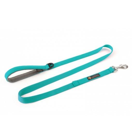 JoQu Classic Leash Turquoise - smycz spacerowa