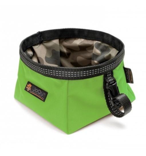 Walk Bowl Neon Green - Miska turystyczna dla psa