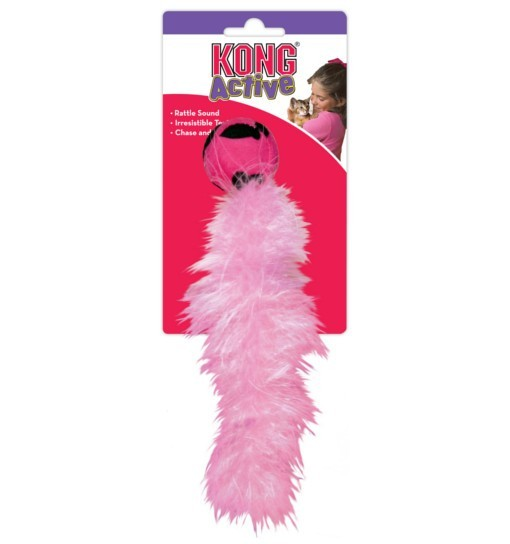 KONG Wild Tails - zabawka z ogonem z piórek boa