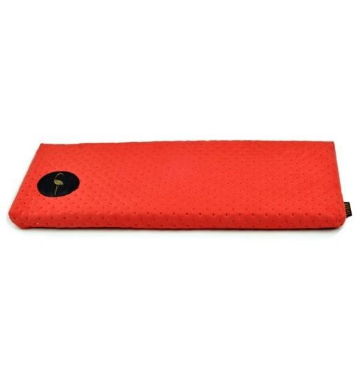 Parapeciak Cleo – czerwony pikowany 50x20cm