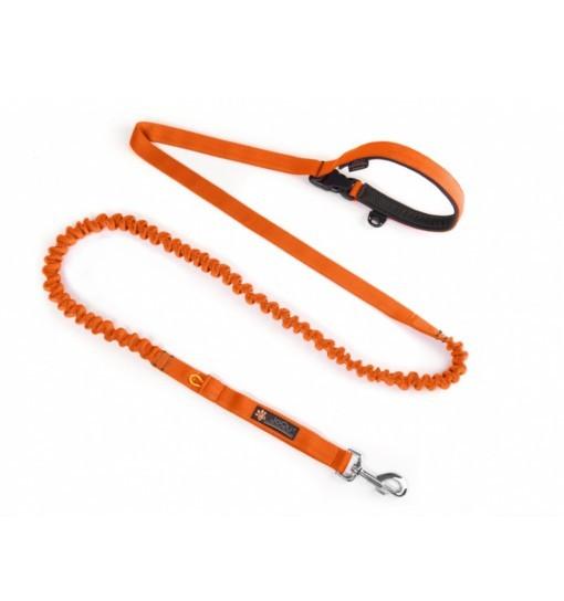JoQu Two Runners Leash Orange - taśma pomarańczowa, smycz do biegania