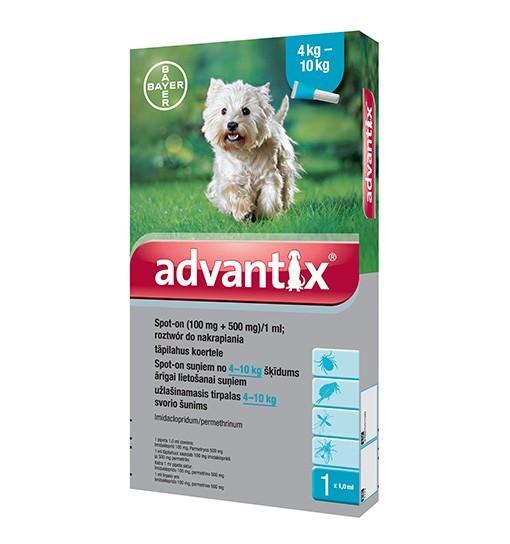 ADVANTIX SPOT-ON 4 X 1,0 ML (4-10 KG)