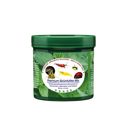 Premium Grünfutter-Mix - pokarm dla krewetek, ślimaków, raków i krabów