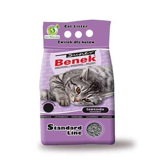 Benek - lawenda /żwirek bentonitowy