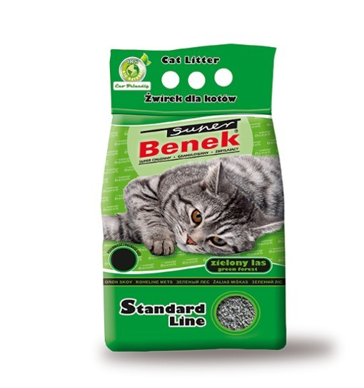 Benek - zielony las /żwirek bentonitowy