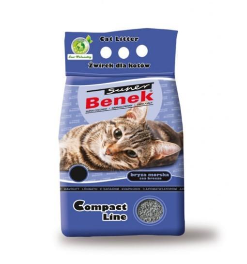 Benek Compact - morska bryza /żwirek bentonitowy