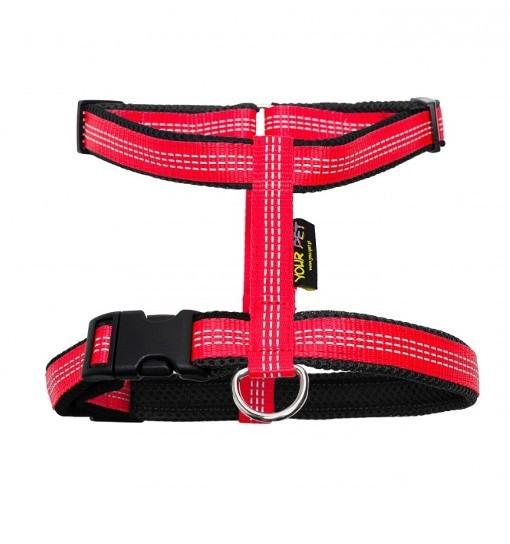 Your Pet Guard Reflex – szelki antyucieczkowe (czerwono-czarne)
