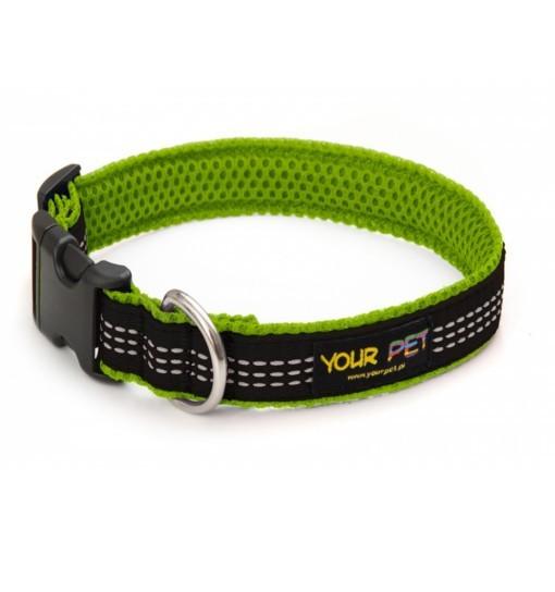 Your Pet Reflex Comfort – obroża z taśmą odblaskową (zielono-czarna)