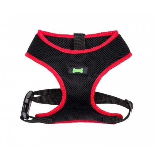 Textile Comfort – szelki bezuciskowe (czarno-czerwone)
