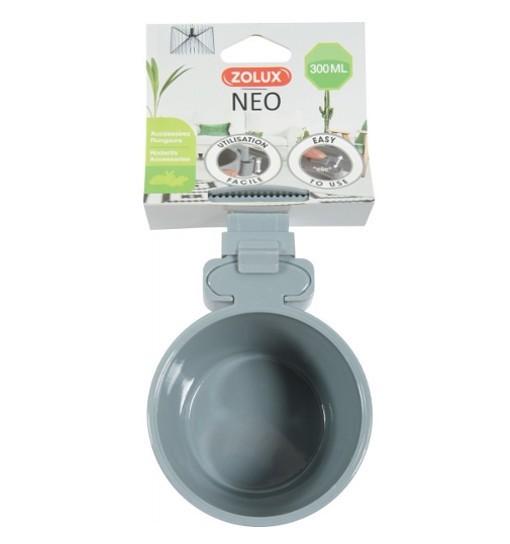 Zolux Plastikowy karmnik NEO - szary